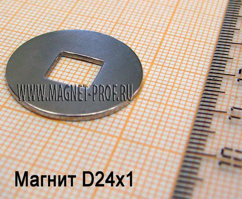 Неодимовый магнит N33 D24x1мм.