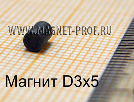 Магнит SmCo YX16 D3x5мм.