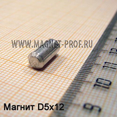Магнит LNG40 D5x12мм. без намаг.