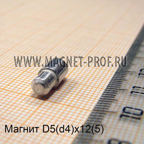 Магнит LNG40 D5(d4)x12(5)мм.