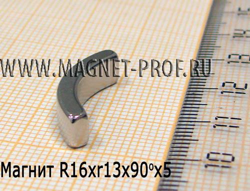 Магнит N33 R16xr13x90x5