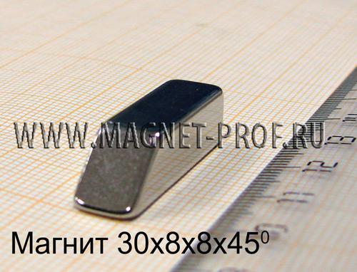 Неодимовый магнит N33 30x8x8х45