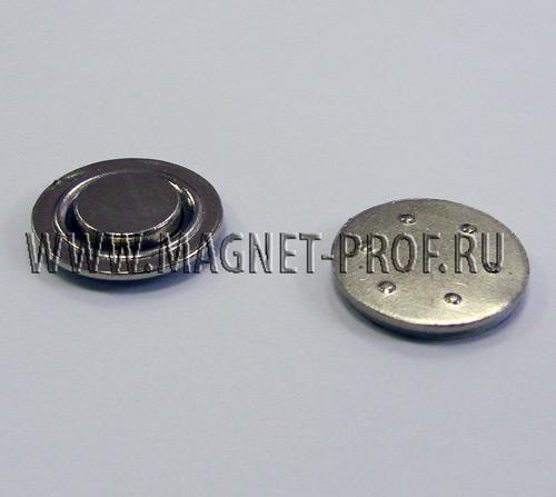 Магнит для бейджей d17мм (металл)