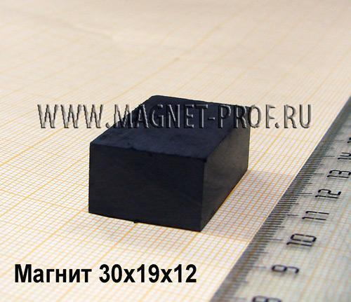 Ферритовый магнит Y30 30x19x12мм.