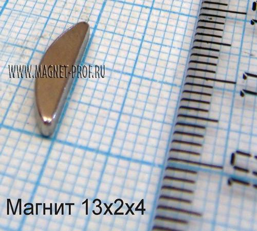 Неодимовый магнит N33 13x2x4мм.