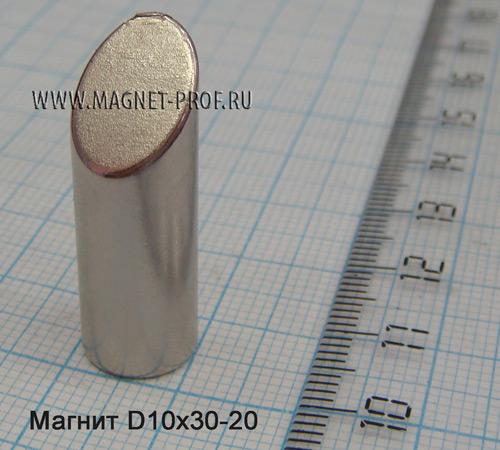 Неодимовый магнит N33 D10x30x45