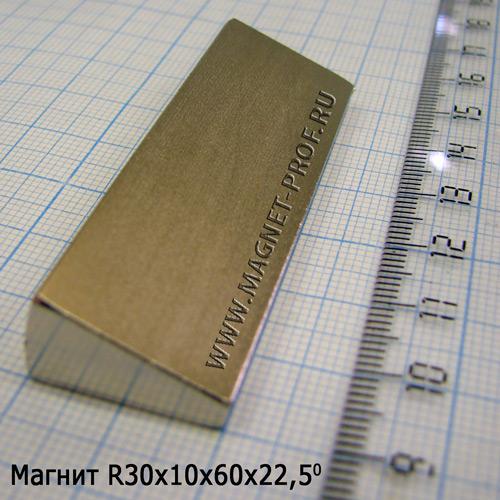 Магнит N50 (диам.) R30xr10x22.5x60