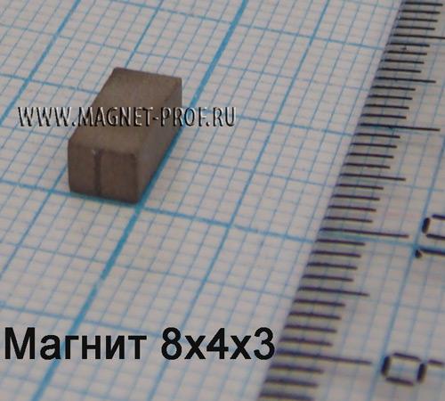 Магнит YX20 8x4x3мм.