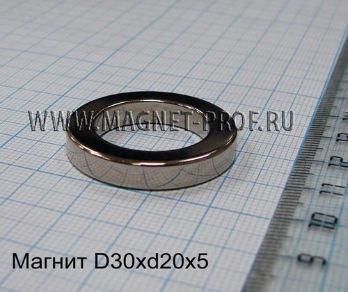 Магнит D30xd20x5 мм (многополюсной)