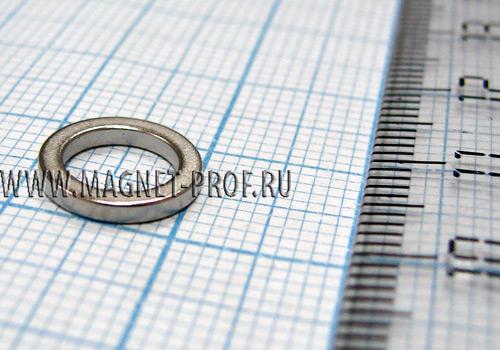 Неодимовый магнит кольцо D10xd7x1 мм., N35