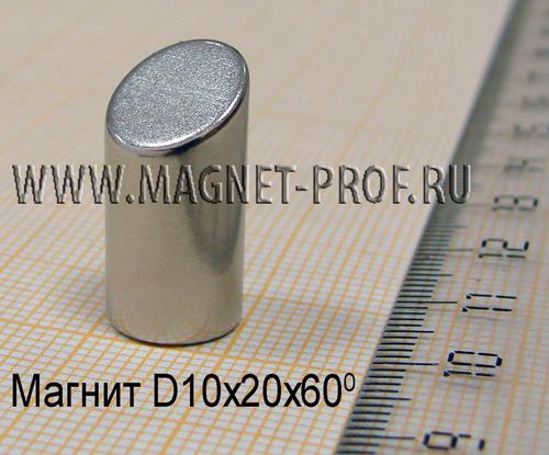 Неодимовый магнит N33 D10x20х60
