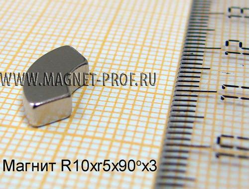 Магнит N33 R10xr5x90x3 (акс)