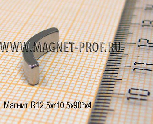 Магнит  N33 R12,5xr10,5x90x4