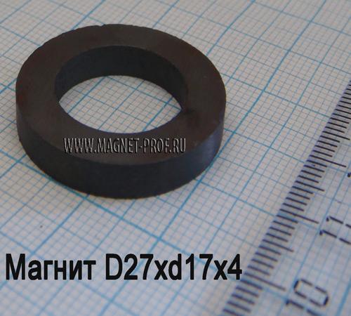 Ферритовый магнит Y30 D27xd17x4мм.