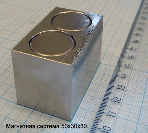 Магнитная система 50x30x30
