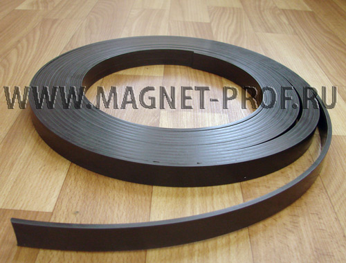 Магнитная лента 1мx20ммx4мм без клеевого слоя