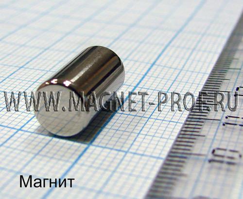 Неодимовый магнит диск D8x15 мм., N35