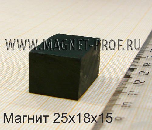 Ферритовый магнит Y30 25x18x15мм.