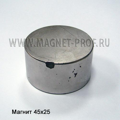 Магнит неодимовый со сколом  45х25мм