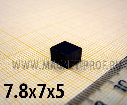 Неодимовый магнит пластина 7.8x7x5 мм, N35H