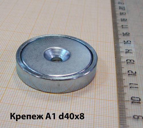 Магнитный держатель A1 d40x8