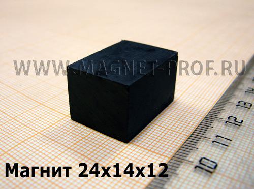 Ферритовый магнит Y35 24x14x12мм.