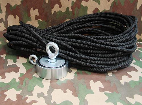 Поисковый магнит F120x2 + 20м веревки