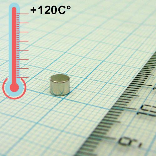Неодимовый магнит диск D4x3 мм., N35H