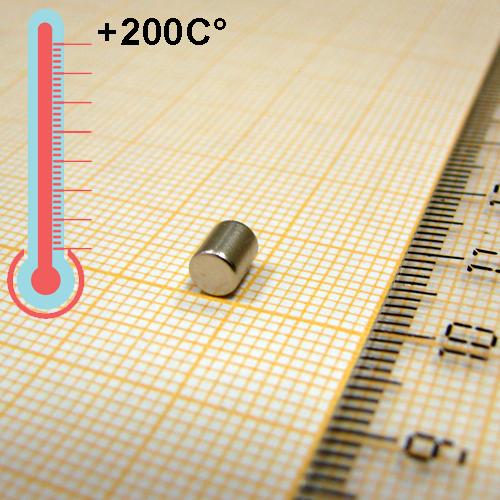 Неодимовый магнит диск D4x5 мм., N35EH