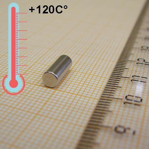 Неодимовый магнит диск D4x10 мм., N50H