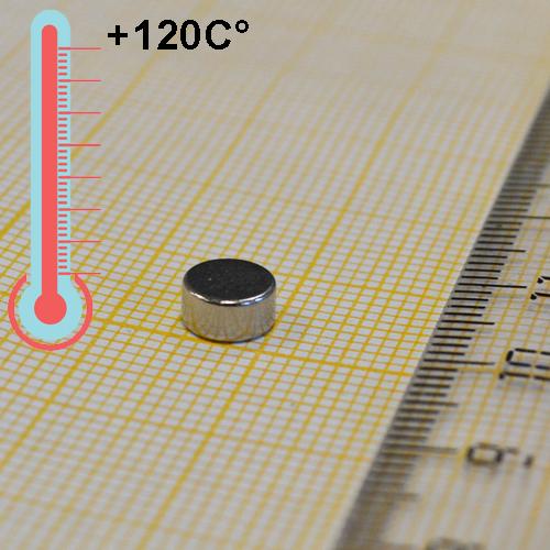 Неодимовый магнит диск D6x3 мм., N38H