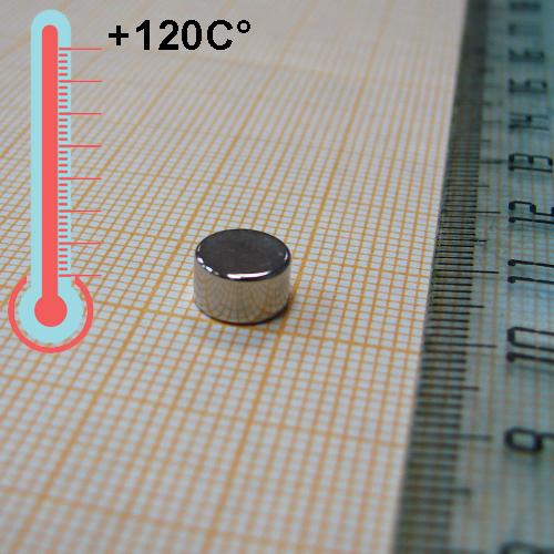 Неодимовый магнит диск D7x4 мм., N35H