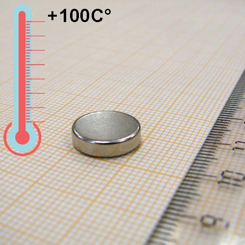 Неодимовый магнит диск D12x3 мм., N35M