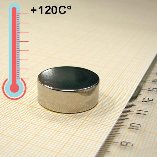 Неодимовый магнит диск D23x9 мм., N33H