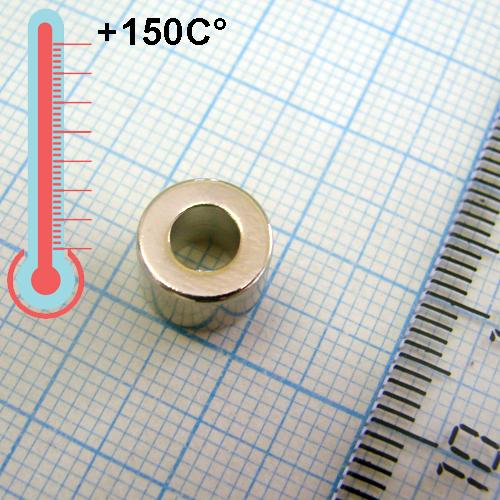 Неодимовый магнит кольцо D9xd4,5x6 мм, N33SH