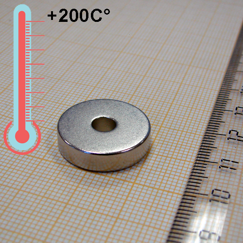 Неодимовый магнит D20xd5x5 мм., N33EH