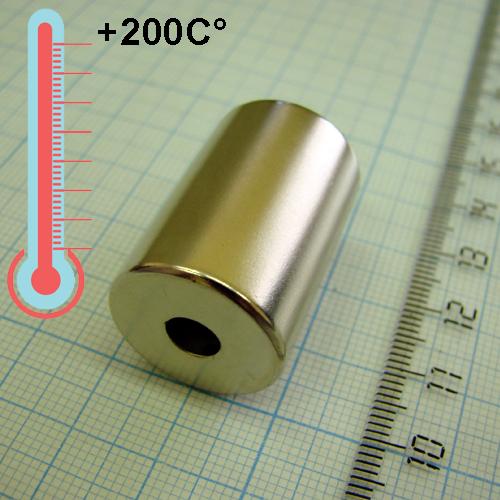 Неодимовый магнит D20xd6x30 ,N33EH