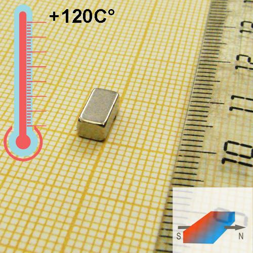 Неодимовый магнит пластина 8x3x4 мм., N48H