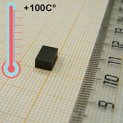 Неодимовый магнит пластина  8x5x3 мм., N50M