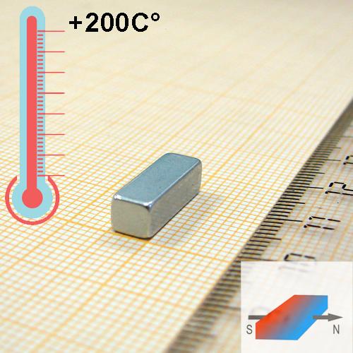 Неодимовый магнит пластина 15x4,5x5 мм., N30EH