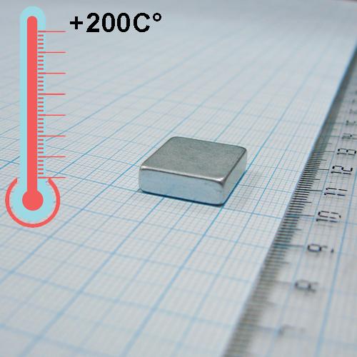 Неодимовый магнит пластина 17x15x5 мм., N30EH