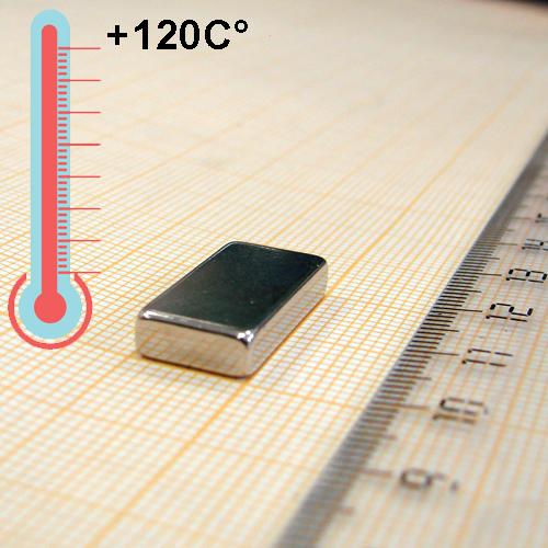 Неодимовый магнит пластина 20x10x4 мм., N48H