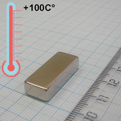 Неодимовый магнит пластина 25x10x6 мм., N35М