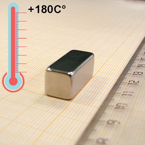 Неодимовый магнит пластина 25x10x10 мм., N35UH