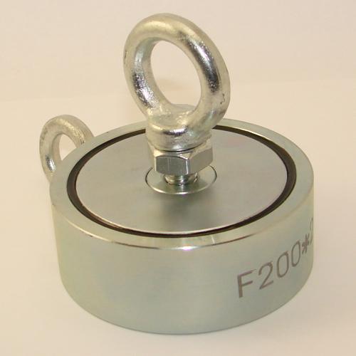 Поисковый магнит двухсторонний F200x2 (200 кг)