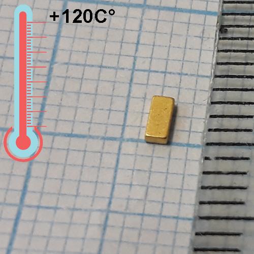 Неодимовый магнит пластина 3x1,4x0,8 , N35H(Gold)