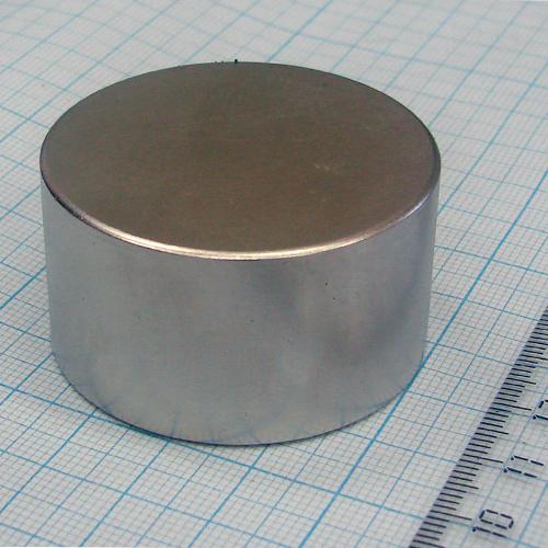 Неодимовый магнит диск D45х25 мм., N35
