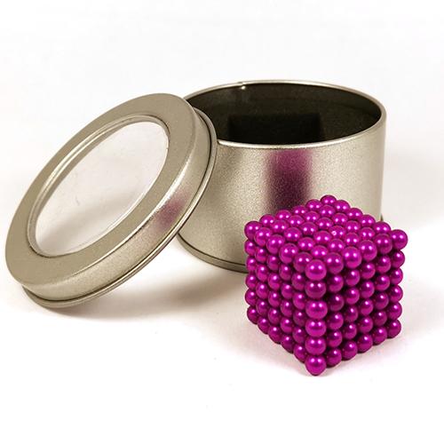 Розовый неокуб - 216 шариков диаметром 5 мм.