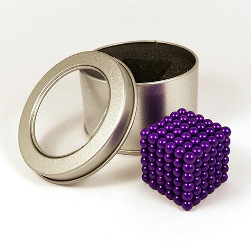 Фиолетовый неокуб - 216 шариков диаметром 5 мм.