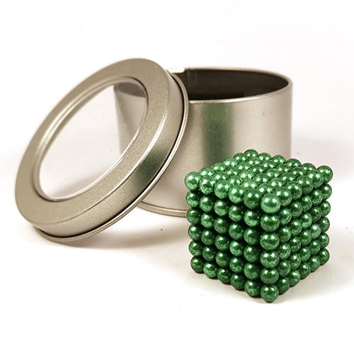 Зеленый неокуб - 216 шариков диаметром 5 мм.
